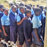 The Water Project: St. Marygoret Girls Secondary School -  Waiting In Line