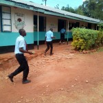 The Water Project: Friends Secondary School Shamakhokho -  Students Rush Back To Class