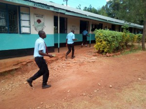 The Water Project:  Students Rush Back To Class