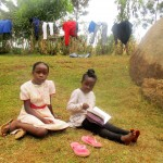 The Water Project: Mutambi Community, Kivumbi Spring -  Venessa And Her Sister At Their Compound