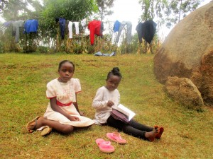 The Water Project:  Venessa And Her Sister At Their Compound