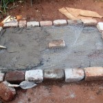 The Water Project: Emabungo Community -  Sanitation Platform Construction
