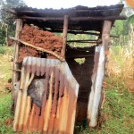 The Water Project: Mutambi Community, Kivumbi Spring -  Latrine