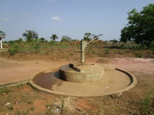 The Water Project:  Partly Functional Hand Dug Well