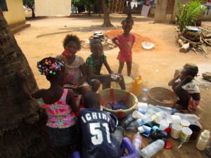 The Water Project:  Children Washing Cups