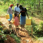 The Water Project: Mutambi Community, Kivumbi Spring -  Walking To The Spring