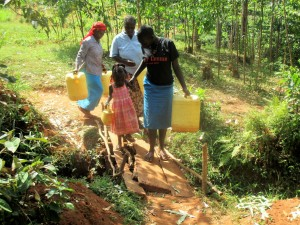 The Water Project : 2-kenya4706-walking-to-the-spring