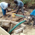 The Water Project: Visiru Community, Kitinga Spring -  Gold Miners At Work