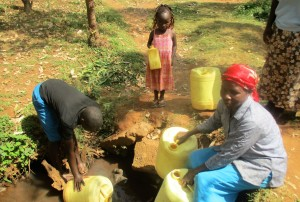 The Water Project : 3-kenya4706-fetching-water