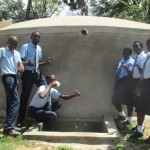 The Water Project: Ikonyero Secondary School -  Finished Tank