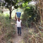 The Water Project: Sumbuya Community, Quarry Road -  Carrying Water