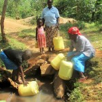 The Water Project: Mutambi Community -  Fetching Water