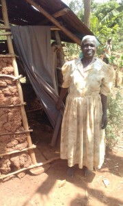 The Water Project:  Ester Aguiya By Her Latrine