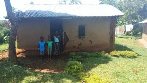 The Water Project:  Children In Front Of Home