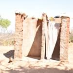 The Water Project: Maluvyu Community A -  Latrine