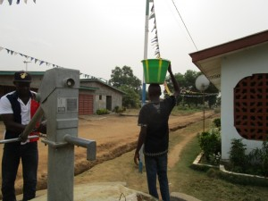 The Water Project:  Well Working In The Rainy Season