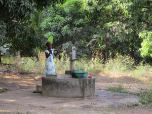 The Water Project:  Seasonal Well When Working