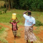 The Water Project: Mutambi Community, Kivumbi Spring -  Balancing Water
