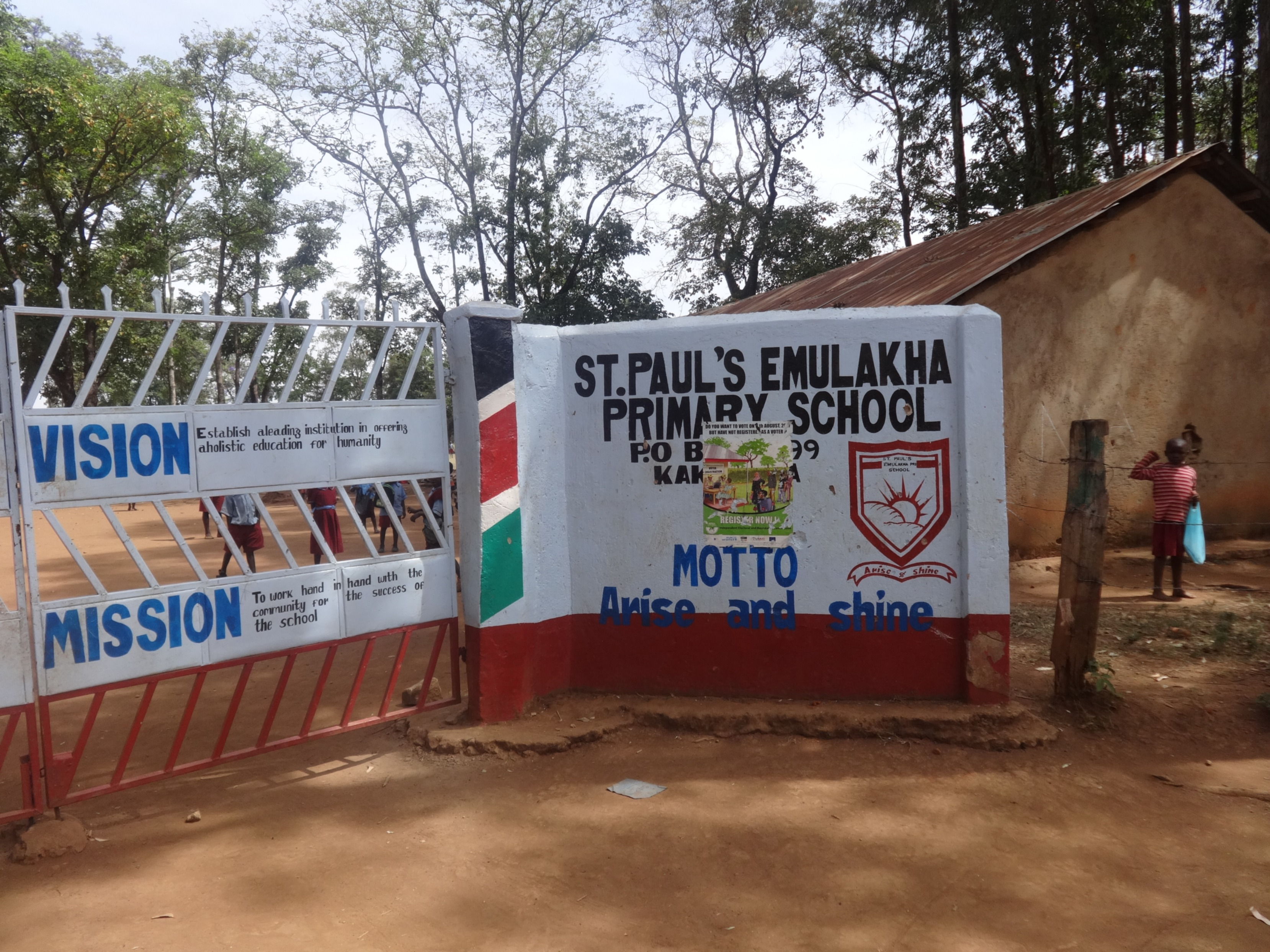 The Water Project : 1-kenya4678-school-entrance