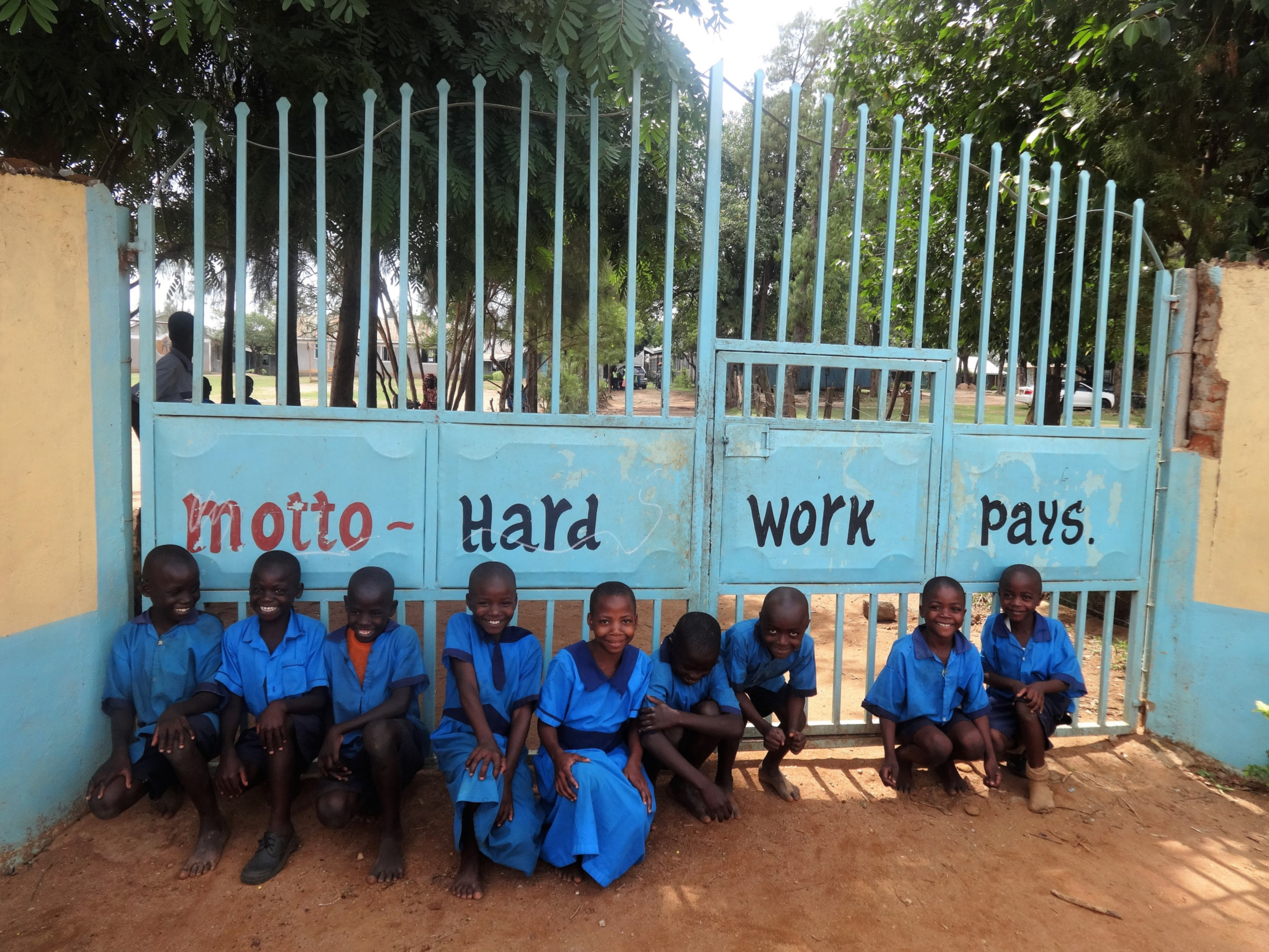 The Water Project : 1-kenya4679-school-gate