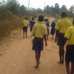 The Water Project: Emukhalari Primary School -  Students Walking To The Spring
