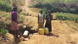 The Water Project : 1-kenya4729-women-at-futsi-fuvili-spring