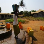 The Water Project: Benke Community, Brima Lane -  Seasonal Well When Working