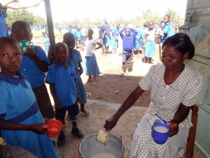 The Water Project:  Serving Porridge To Early Education Students