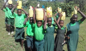 The Water Project:  Students Posing With Their Water