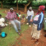 The Water Project: Eluhobe Community -  Mrs Janet Makutwa Adressing Community Members
