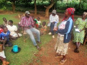 The Water Project : 10-kenya4710-mrs-janet-makutwa-adressing-community-members