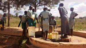 The Water Project:  Students Waiting At The Well