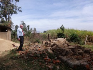 The Water Project:  Showing Us Recently Demolished Latrines
