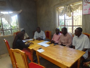 The Water Project : 12-kenya4677-staff-meeting-with-administration