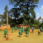 The Water Project : 13-kenya4663-rush-to-use-latrines-on-break