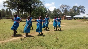 The Water Project:  Girls Rush To Use Latrines
