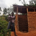 The Water Project: Shitungu Community B, Charles Amala Spring -  Latrine
