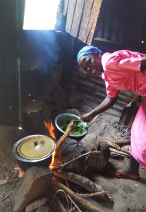 The Water Project:  Mrs Leah The School Cook Prepares A Meal For Staff