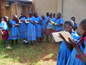 The Water Project:  Children Taking Notes On Hand Washing