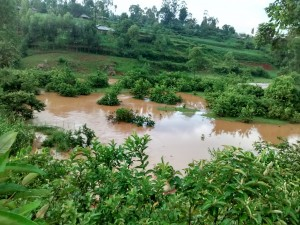 The Water Project : 14-kenya4710-heavy-rains-in-the-area-caused-floods-disrupting-with-the-construction-process