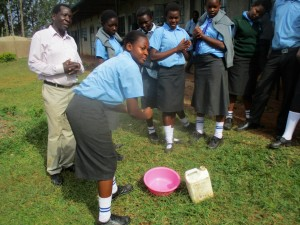 The Water Project:  Health Club President Demonstrates How To Wash Hands