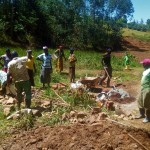 The Water Project: Bumavi Community, Shoso Mwoga Spring -  Collecting Materials