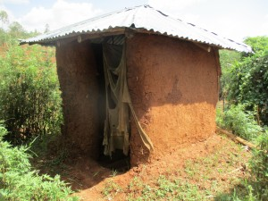 The Water Project:  Latrine With Cloth Door