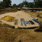 The Water Project: Tombo Bana Community -  Clothes On Ground