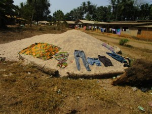 The Water Project:  Clothes On Ground