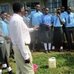 The Water Project: Bumuyange Secondary School -  Principal Addressing Students