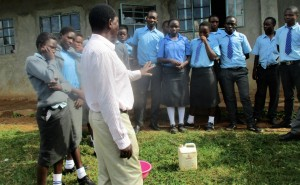 The Water Project:  Principal Addressing Students