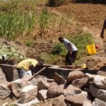 The Water Project: Mwinaya Community -  Construction