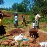 The Water Project: Bumavi Community -  Collecting Materials