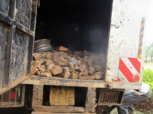 The Water Project:  Truck Delivering Materials